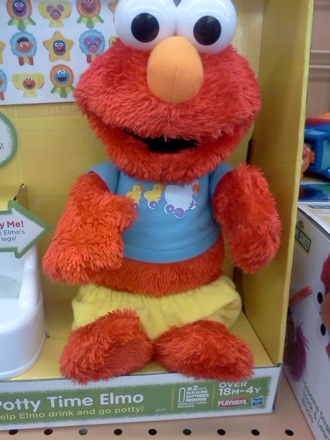 I wish the Elmo dolls would just go away. Ditto  for all the potty training dolls.