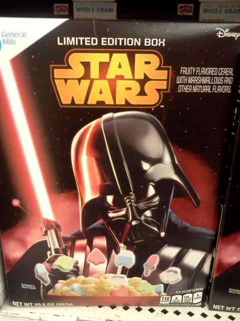 Star Wars Lucky Charms - for the die hard Star Wars fan.
