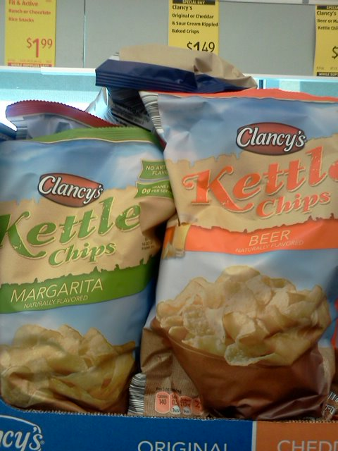 Beer flavored potato chips - genious!  I wish I'd actually bought these.
